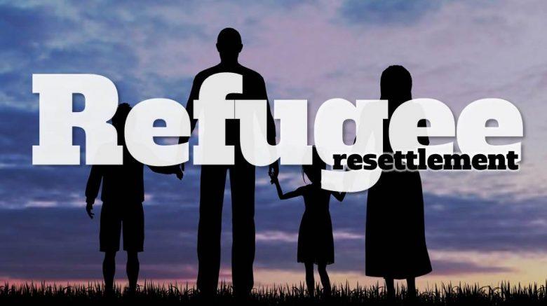 Banner for refugee resettlement